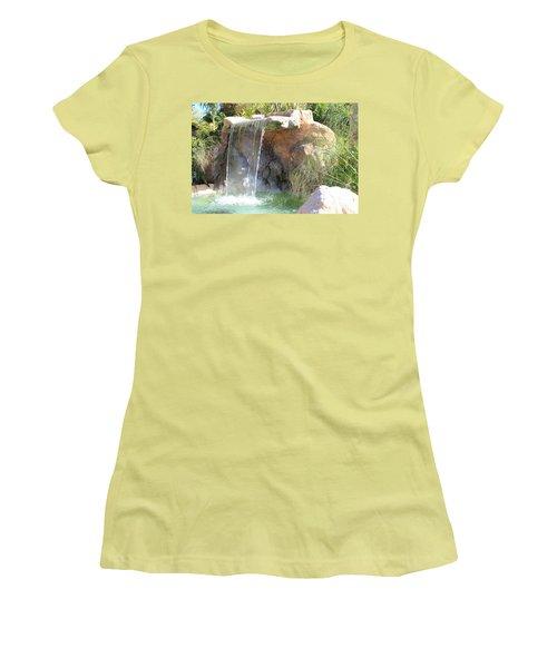 Garden Waterfall Women's T-Shirt (Athletic Fit)