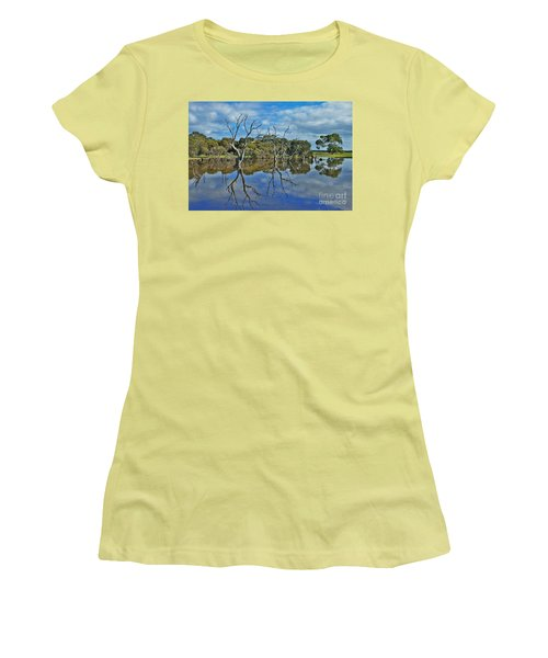Women's T-Shirt (Junior Cut) featuring the photograph Glass Lake by Stephen Mitchell