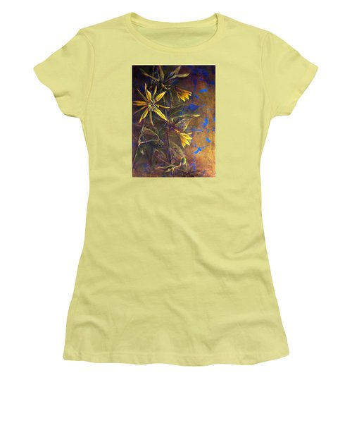 Gold Passions Women's T-Shirt (Junior Cut) by Ashley Kujan