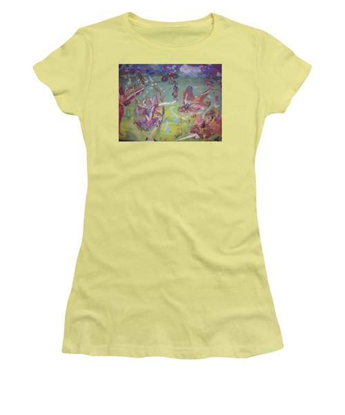 Good Morning Fairies Women's T-Shirt (Junior Cut) by Judith Desrosiers