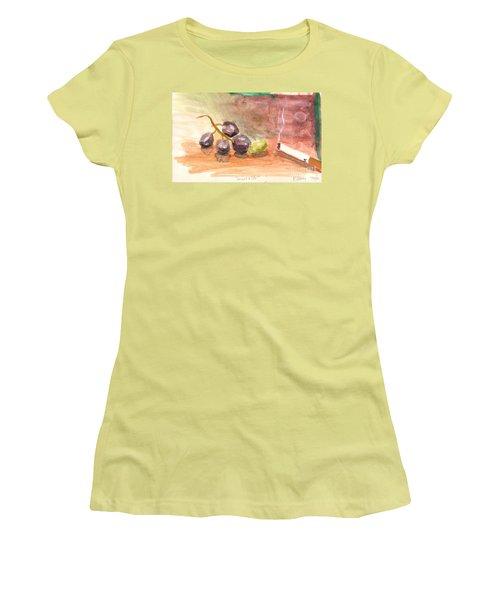 Grapeality Women's T-Shirt (Junior Cut) by Rod Ismay