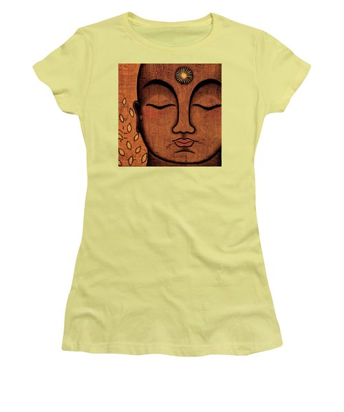 Women's T-Shirt (Junior Cut) featuring the painting He Knows by Gloria Rothrock