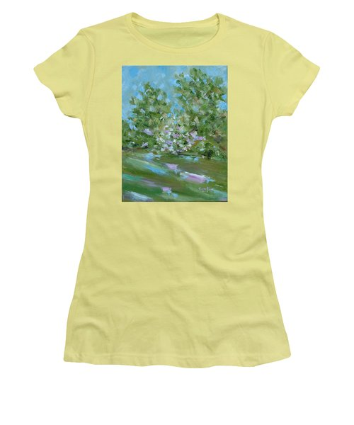Hilltop Women's T-Shirt (Junior Cut) by Judith Rhue