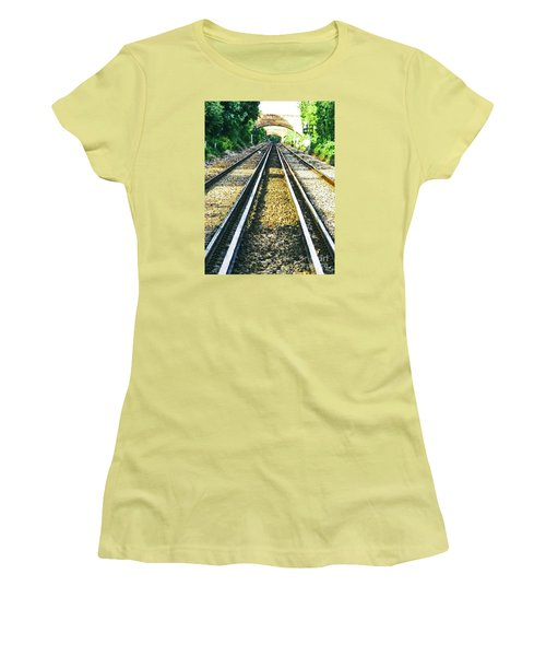 Women's T-Shirt (Junior Cut) featuring the photograph How Come They Never Go Up The Middle by Steve Taylor