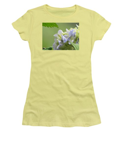 Hydrangea Blossom Women's T-Shirt (Junior Cut) by Katie Wing Vigil