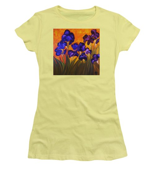 Irises In Motion Women's T-Shirt (Athletic Fit)