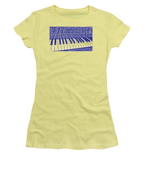 Ivory Blues Women's T-Shirt (Athletic Fit)