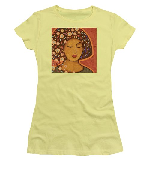 Women's T-Shirt (Junior Cut) featuring the painting Kali by Gloria Rothrock