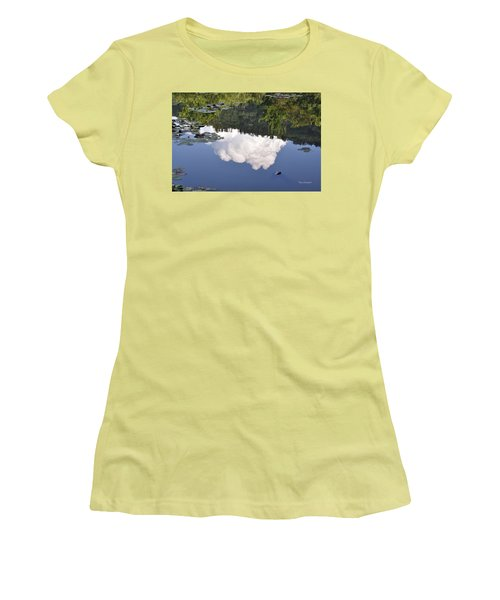 Lake Reflection Women's T-Shirt (Junior Cut) by Kay Lovingood