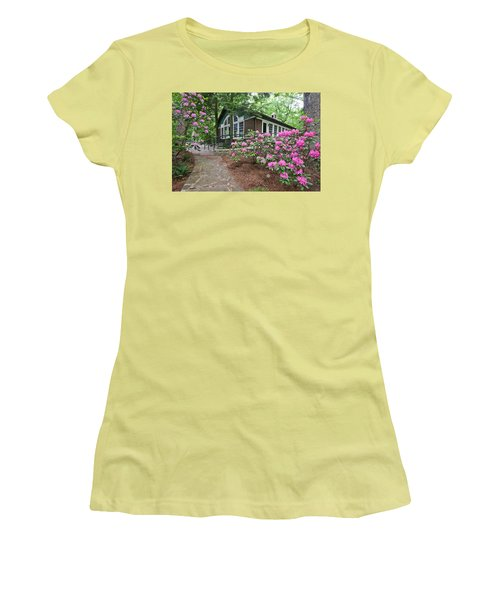 Little Brown Church In Spring Women's T-Shirt (Athletic Fit)
