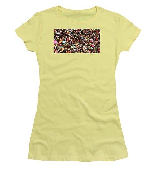 Women's T-Shirt (Junior Cut) featuring the photograph Locks Of Love by Kume Bryant