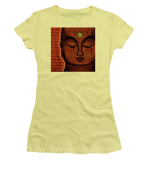 Women's T-Shirt (Junior Cut) featuring the painting Love by Gloria Rothrock