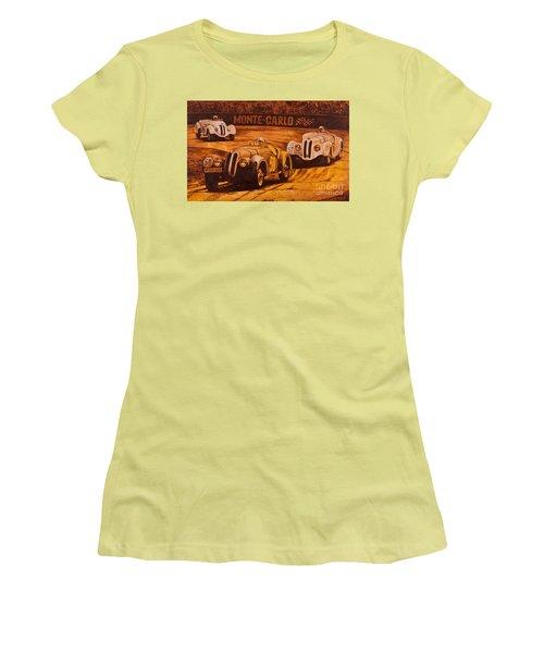 Monte-carlo 1937 Women's T-Shirt (Junior Cut) by Igor Postash