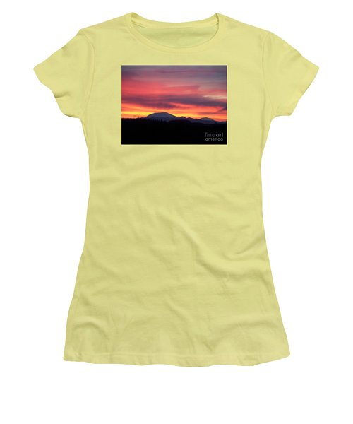 Women's T-Shirt (Junior Cut) featuring the photograph Morning Glow by Chalet Roome-Rigdon