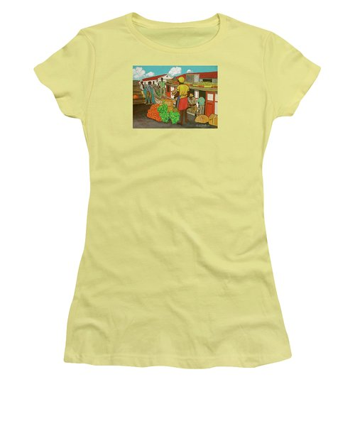 Nassau Fruit Boat Women's T-Shirt (Junior Cut) by Frank Hunter