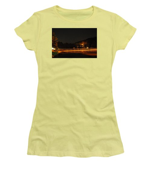 Night Bridge Women's T-Shirt (Junior Cut) by Kay Lovingood