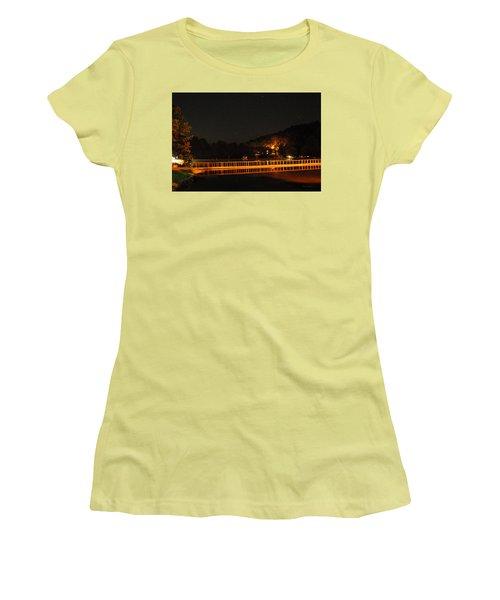 Night Bridge Women's T-Shirt (Athletic Fit)