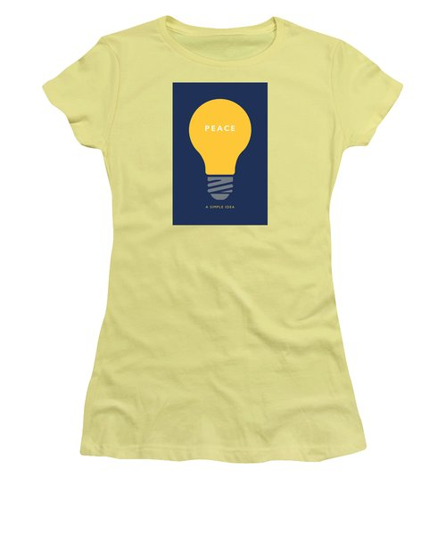 Peace A Simple Idea Women's T-Shirt (Athletic Fit)