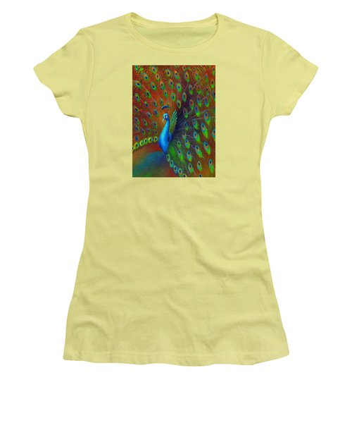 Peacock Spread Women's T-Shirt (Athletic Fit)