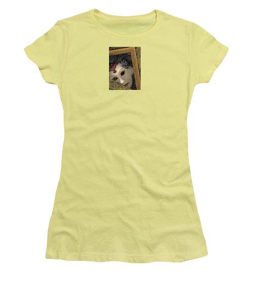 Women's T-Shirt (Junior Cut) featuring the mixed media Pensive by Nareeta Martin