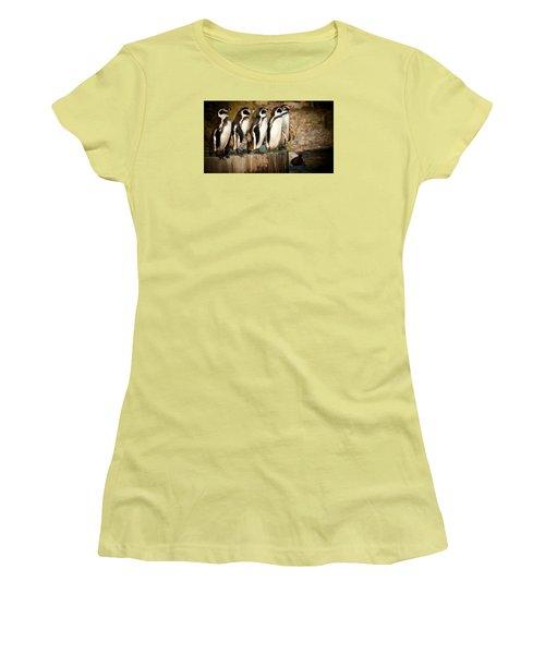 Pick Up A Penguin Women's T-Shirt (Junior Cut) by Chris Boulton