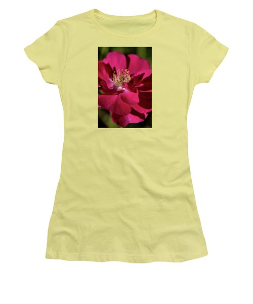 Women's T-Shirt (Junior Cut) featuring the photograph Pink Of Rose by Joy Watson