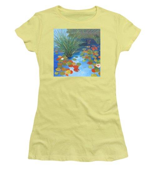 Pond Revisited Women's T-Shirt (Junior Cut) by Gary Coleman