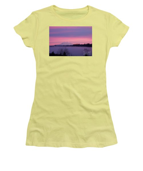 Women's T-Shirt (Junior Cut) featuring the photograph Purple Mountain Majesty by Chalet Roome-Rigdon