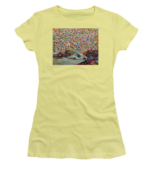 Race Day Women's T-Shirt (Junior Cut) by Judith Rhue
