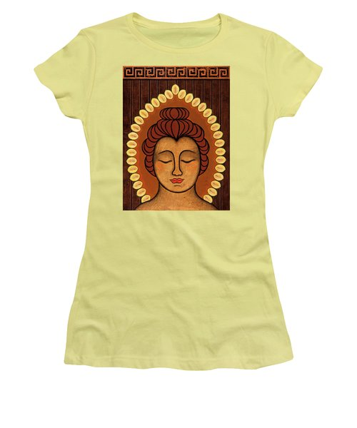 Women's T-Shirt (Junior Cut) featuring the painting Radiant Peace by Gloria Rothrock