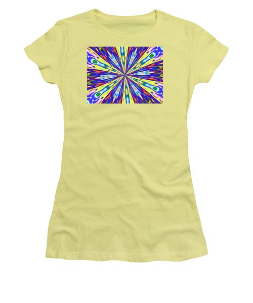 Women's T-Shirt (Junior Cut) featuring the digital art Rainbow In Space by Alec Drake