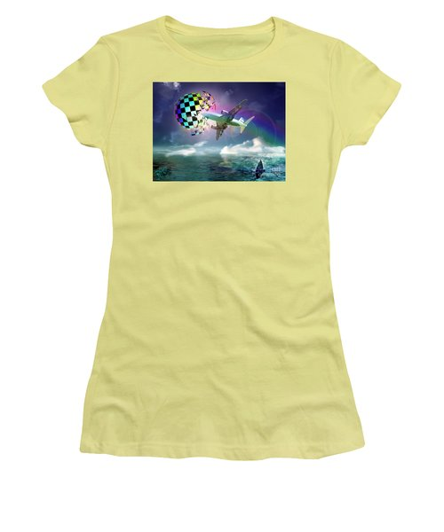 Rainbow Set Free Women's T-Shirt (Athletic Fit)