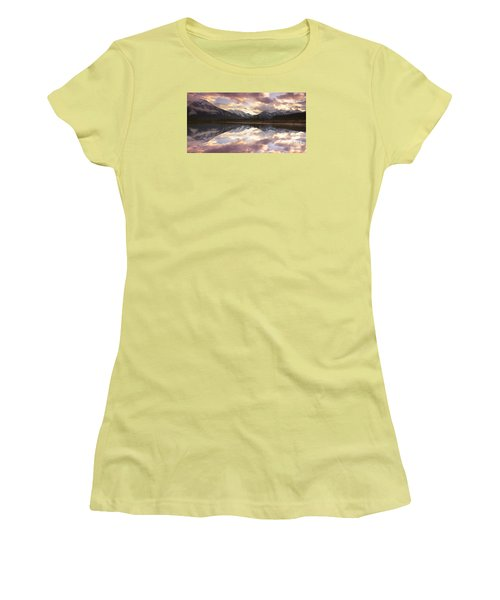 Reflecting Mountains Women's T-Shirt (Athletic Fit)