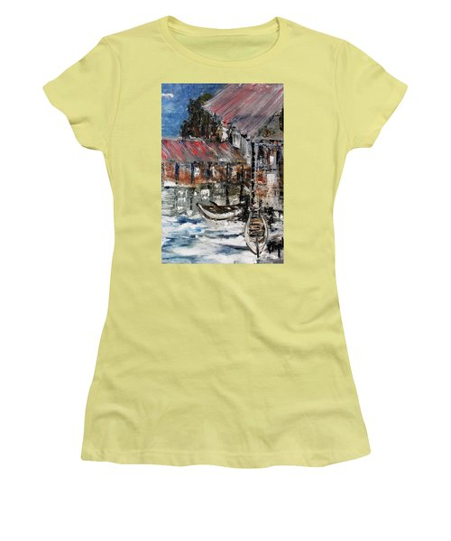 Women's T-Shirt (Junior Cut) featuring the painting Resting by Evelina Popilian
