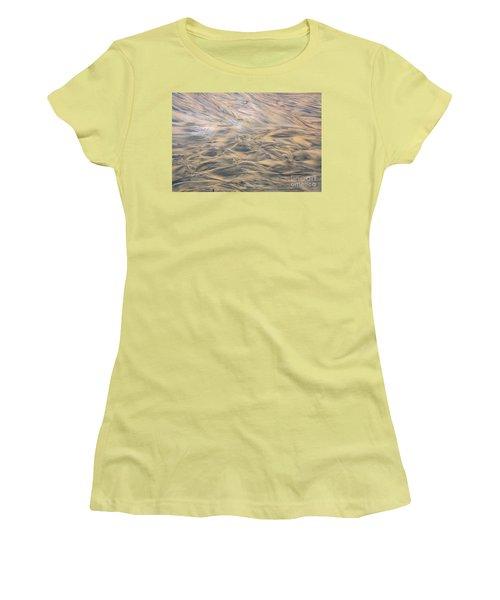 Women's T-Shirt (Junior Cut) featuring the photograph Sand Patterns by Nareeta Martin