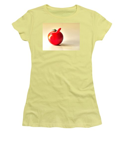 Women's T-Shirt (Junior Cut) featuring the photograph Saucy Tomato by Sean Griffin