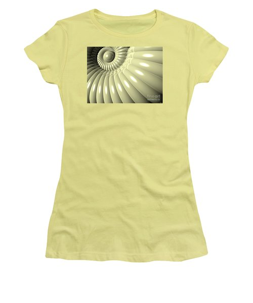 Women's T-Shirt (Junior Cut) featuring the digital art Shell Of Repetition by Phil Perkins