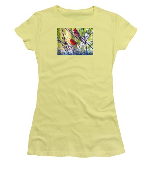 Song Of Spring Women's T-Shirt (Junior Cut) by Judy Wanamaker