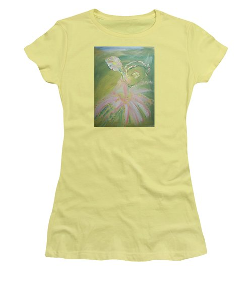 Spring Fairy Entrance Women's T-Shirt (Junior Cut) by Judith Desrosiers