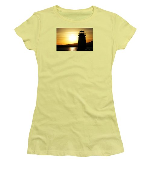 Sunset Lighthouse Women's T-Shirt (Athletic Fit)