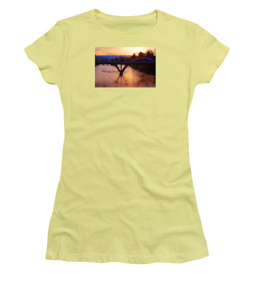 Sunset Over Caveman Bridge Women's T-Shirt (Athletic Fit)