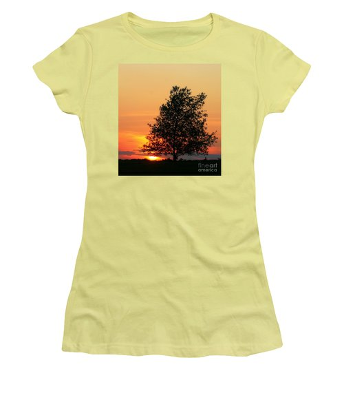 Sunset Square Women's T-Shirt (Junior Cut) by Angela Rath