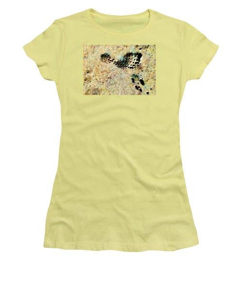 Women's T-Shirt (Junior Cut) featuring the digital art The Evolution Of Man by Steve Taylor