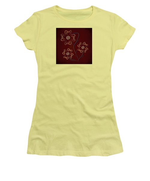 Women's T-Shirt (Junior Cut) featuring the digital art The Flowers  by Milena Ilieva