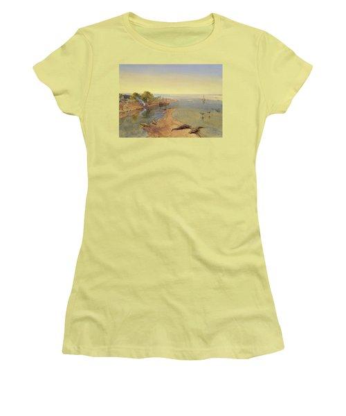 The Ganges Women's T-Shirt (Junior Cut) by William Crimea Simpson