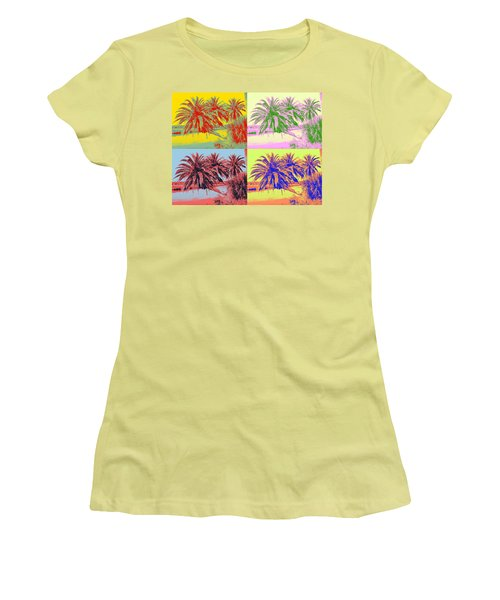 Women's T-Shirt (Junior Cut) featuring the photograph The Loop In Pop Art by Alice Gipson