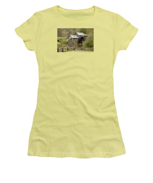 The Old Grist Mill Women's T-Shirt (Junior Cut) by Cindy Manero