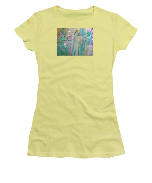 Topiary Easter Women's T-Shirt (Junior Cut) by Judith Desrosiers