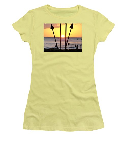 Torched Sunset Women's T-Shirt (Athletic Fit)