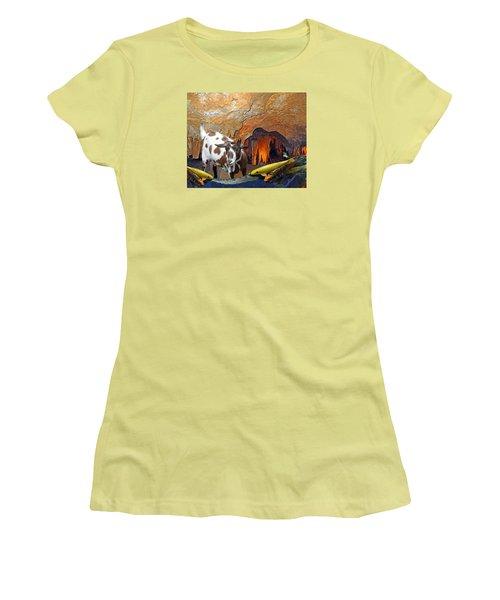 Underground Swim Women's T-Shirt (Junior Cut) by Lynda Lehmann